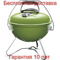 Гриль угольный Weber Smokey Joe Premium Ø37 см (зеленый) США, оригинал