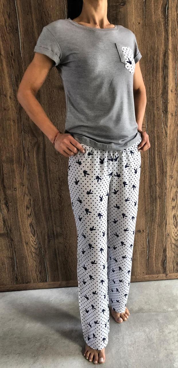 Пижама футболка и штаны с рисунком Playboy  Exclusive