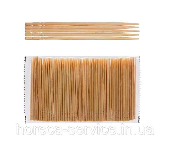 Зубочистка бамбуковая одностронняя L 65 мм (уп 1000 шт), фото 2