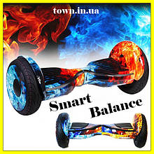 Гироскутер Smart Balance Wheel 10,5 дюймов огонь и лед для детей и взрослых.Гироборд для детей