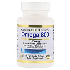 California Gold Nutrition Omega 800 mg EPA/DHA 30 softgels