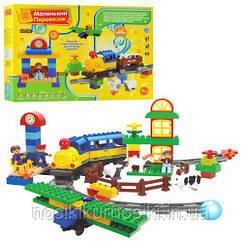 Дитяча залізниця конструктор Jixin Happy Village Маленький паровозик 0439 U/R