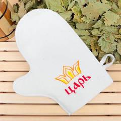 Рукавичка для сауны с вышивкой в ассортименте , Saunapro