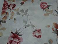 Ткань для штор в стиле прованс с принтом розы