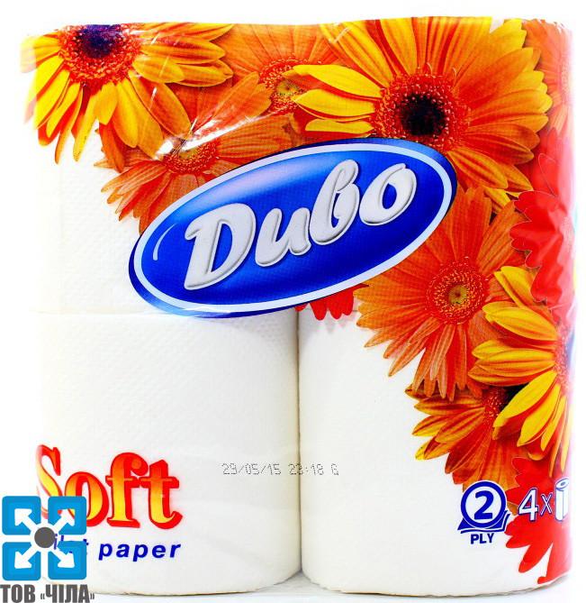"""Туалетная бумага Диво белая """"Soft"""" двухслойная (4 рул/уп)"""