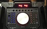 Колонка акумуляторна з Діджей Мікшером DJ-1035 + 2 радіомікрофона (400W/USB/BT/FM), фото 3