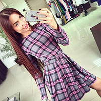 """Женское красивое стильное платье """"Клетка"""" (расцветки)"""