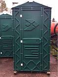 Биотуолет кабіна зелений від чотирьох одиниць, фото 2