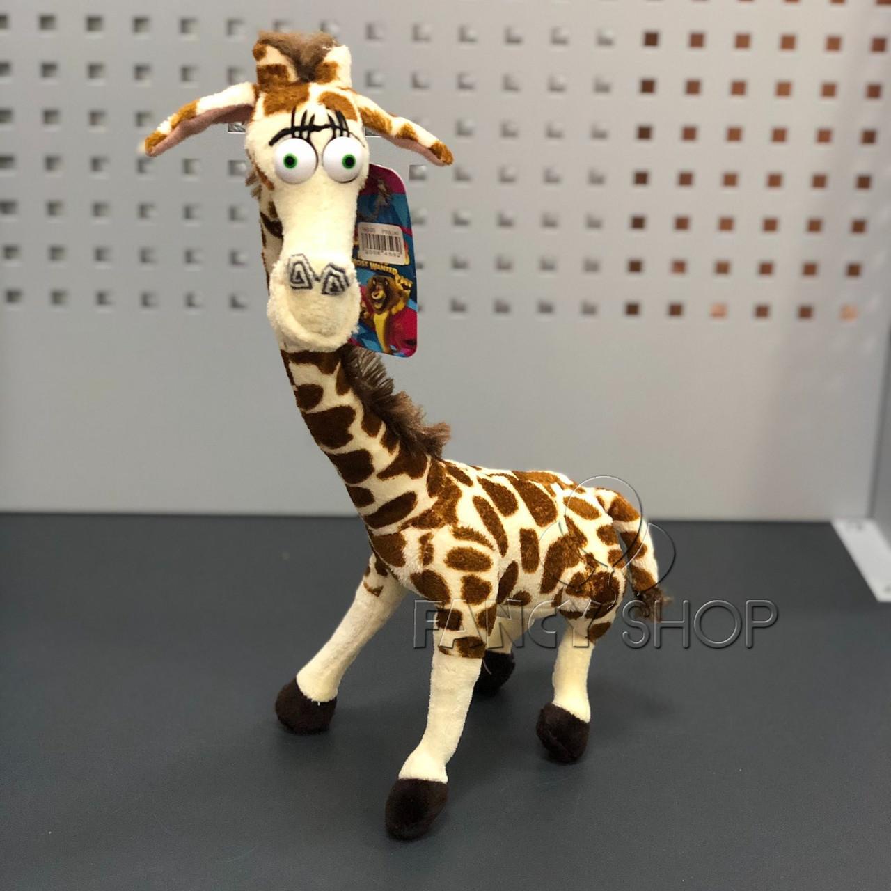 "Іграшка мяка ""Жираф Мелман"", муз, Мягкая игрушка ""Жираф Мелман. Мадагаскар"""