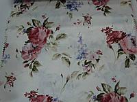 Ткань портьерная с принтом роз