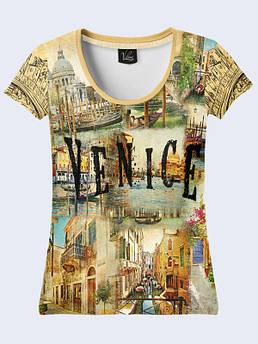 Женская футболка с рисунком Венеция