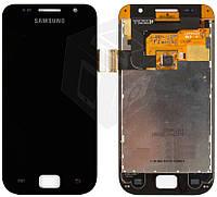 Дисплейный модуль (дисплей + сенсор) для Samsung Galaxy SL i9003, черный, оригинал
