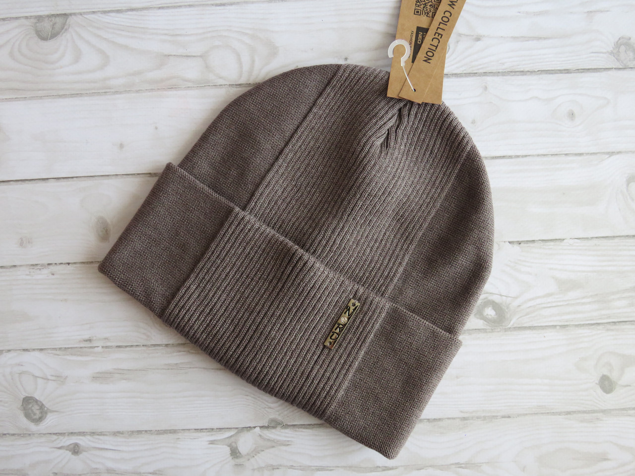 Молодежная хлопковая шапка Nord капучино