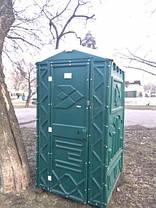 Туалетная кабина (биотуалет) зеленый, фото 2