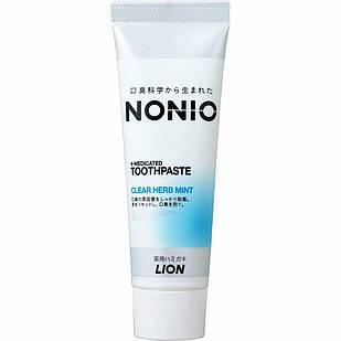 Lion Nonio Hamigaki Clear Herb Mint  медицинская профилактическая зубная паста 130 г