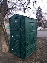 Туалетная кабина (биотуалет) зеленый + жидкость для туалета, фото 2
