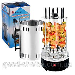 Электрошашлычница Domotec BBQ 1000 Вт / 6 шампуров нержавейка