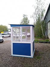 Пост охорони «Акваріум» 150 х 150 (см) з антивандальним покриттям
