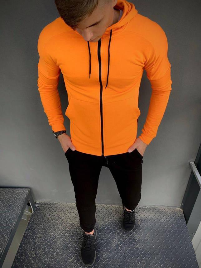 Костюм мужской спортивный Cosmo Intruder оранжевый черный Кофта толстовка + штаны + Подарок, фото 2