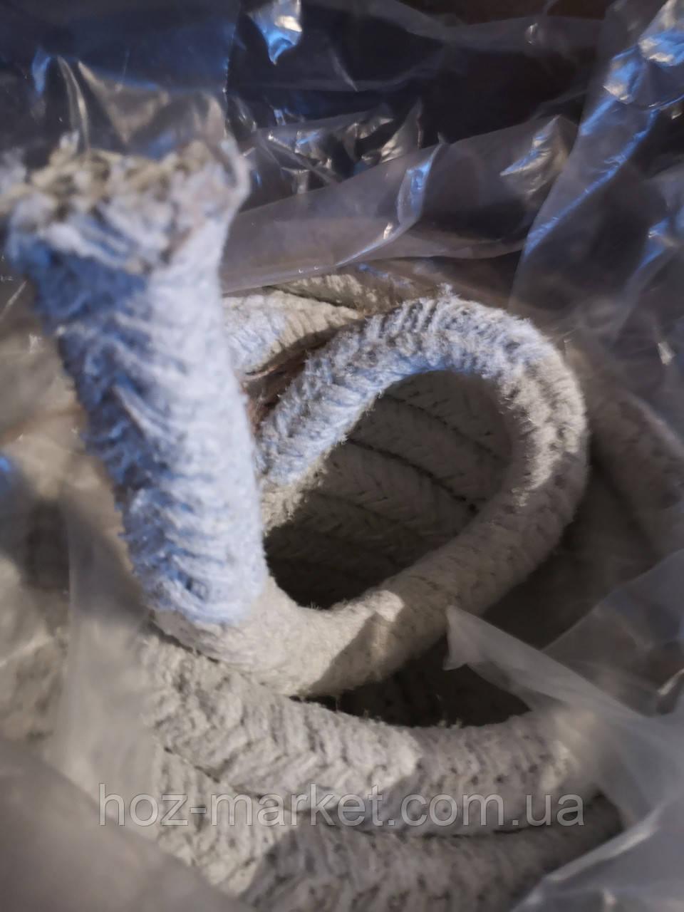 Шнур асбестовый, уплотнительный для котлов на метраж АС 19х19мм уплотнение дверц
