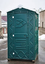 Туалетная кабина биотуалет зеленый + жидкость для туалета