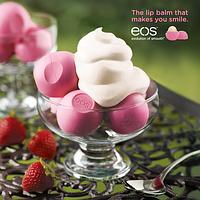 EOS lip balm strawberry sorbet (клубничный сорбет)