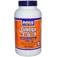 Рыбий жир NOW Omega-3-6-9 1000 мг 250 капс