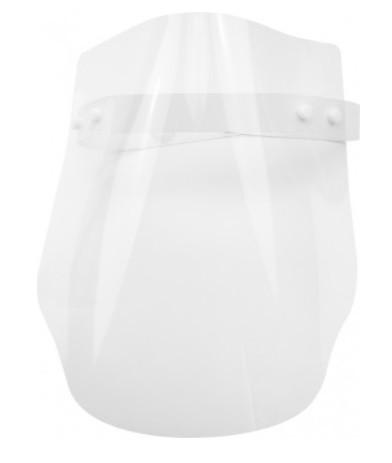 Екран-маска захисний прозорий, кріплення на стрічці кнопками №E30855(30)