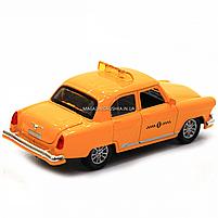 Машинка игровая автопром «1:32-36 ГАЗ-21» металл, 14 см, желтый такси, свет, звук, двери открываются (7508), фото 6