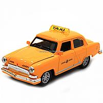 Машинка игровая автопром «1:32-36 ГАЗ-21» металл, 14 см, желтый такси, свет, звук, двери открываются (7508), фото 7