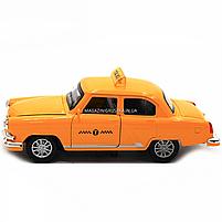 Машинка игровая автопром «1:32-36 ГАЗ-21» металл, 14 см, желтый такси, свет, звук, двери открываются (7508), фото 8