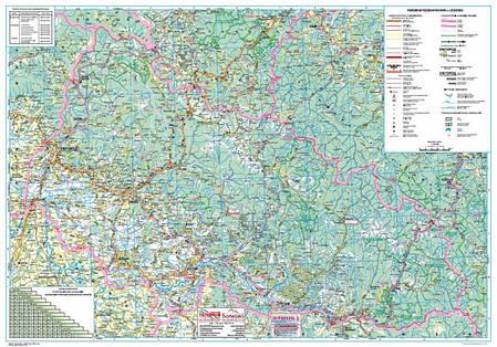 Закарпатська область. Карта автошляхів 1:250000 (2013р.) , фото 2