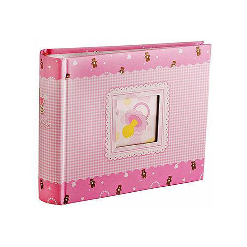 Альбом для фотографий  10х15 на 100 фото Chako Binky&Pram розовый