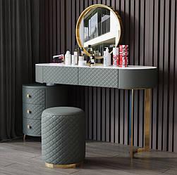 Туалетный столик,пуф,зеркало. Модель RD-2145