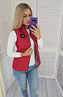 Стильная женская жилетка арт.813 красная, фото 1