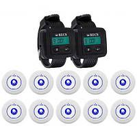 Система вызова медперсонала RECS №69   кнопки вызова медсестры 10 шт + 2 пейджеров персонала, фото 1