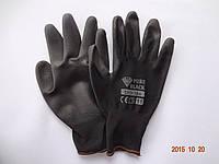Перчатки черные с полиуретановым покрытием Bradas PURE BLACK (упаковка 12 пар)
