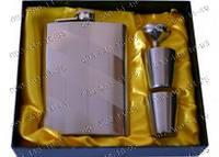 Фляга GT-802 Походная фляга 4в1 Подарочные наборы для мужчин Фляга+лейка+2стопки Набор подарочный фляга