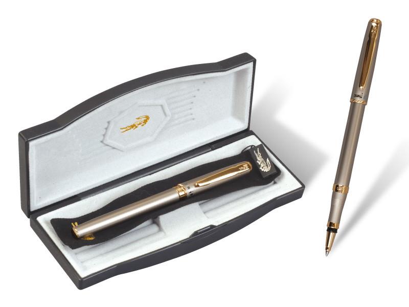 """Ручка капилярная """"Crocodile"""" 211 (1шт/уп) в подарочной упаковке gray"""