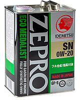 Масло моторное Idemitsu Zepro Eco Medalist 0W20. 4л