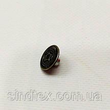 Джинсовая пуговица 17мм  Блек никель (1000шт) (653-Т-0733), фото 2