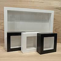 Рамка для 3D 10х10 см - 45мм - белый дуб, фото 1