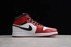 """Кроссовки Nike Jordan 1 Mid Chicago """"Красные/Белые"""""""