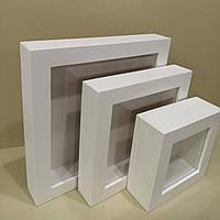 "Глубокая рамка ""WooD - 45"" - 15х15 см. Цвет-белый., фото 1"