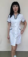 Женский медицинский халат Радуга хлопок  короткий рукав, фото 1