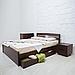 Кровать деревянная двуспальная Лика Люкс, фото 3