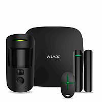 Комплект бездротової охоронної сигналізації Ajax StarterKit Cam Plus Black