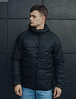 Куртка мужская черная двусторонняя осенняя Staff Стафф