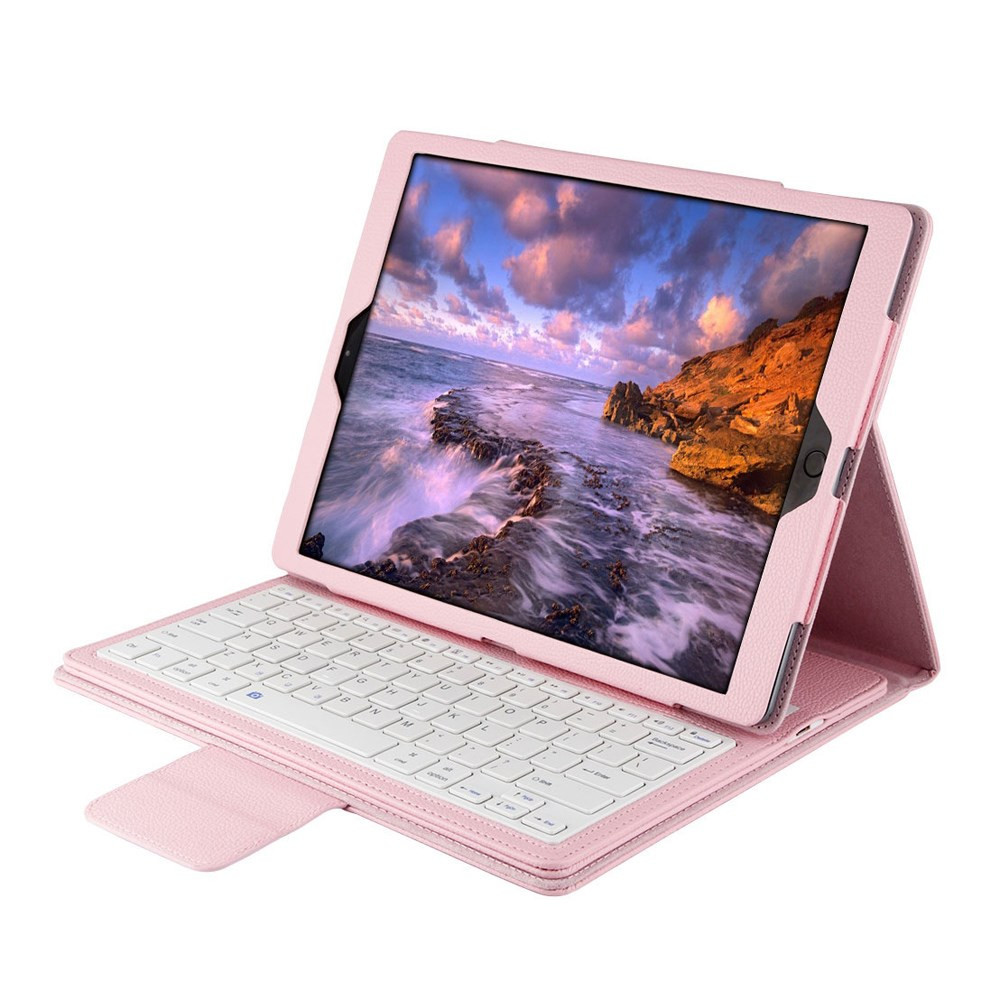 Чехол клавиатура Bluetooth для планшета iPad Pro 12.9 розовый