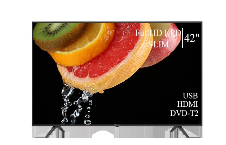 """Телевизор Hisense 42"""" FullHD T2 USB Гарантия 1 ГОД!"""